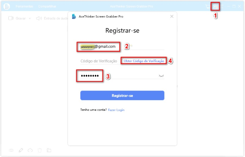 register an account