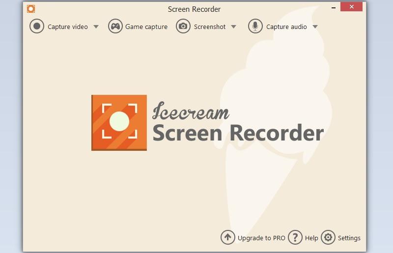 icecream recorder interface