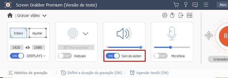 sgp portuguese audio recorder system sound