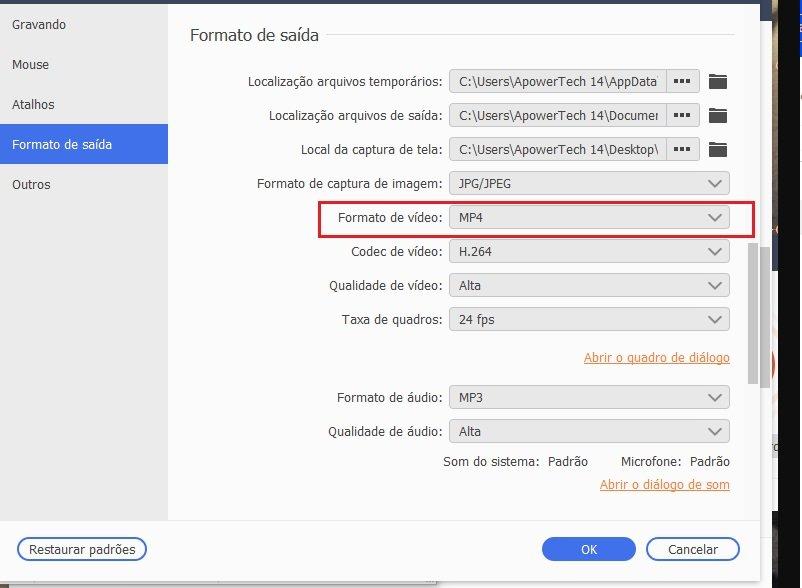 sgp portuguese video output