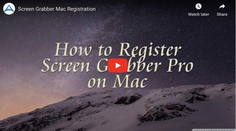 register screen grabber pro for mac