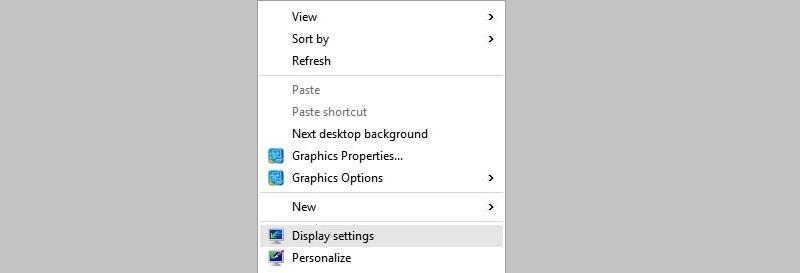 windows10 screen resolution