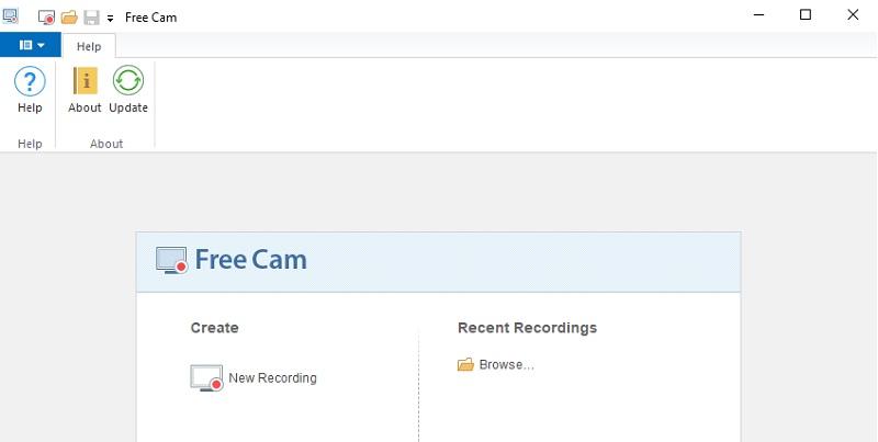 br freecam interface best screen recorder