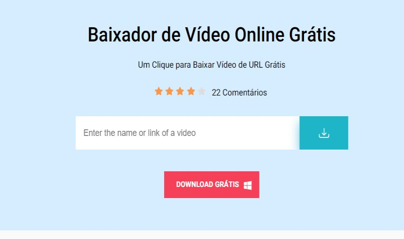 acethinker free online video downlaoder interface