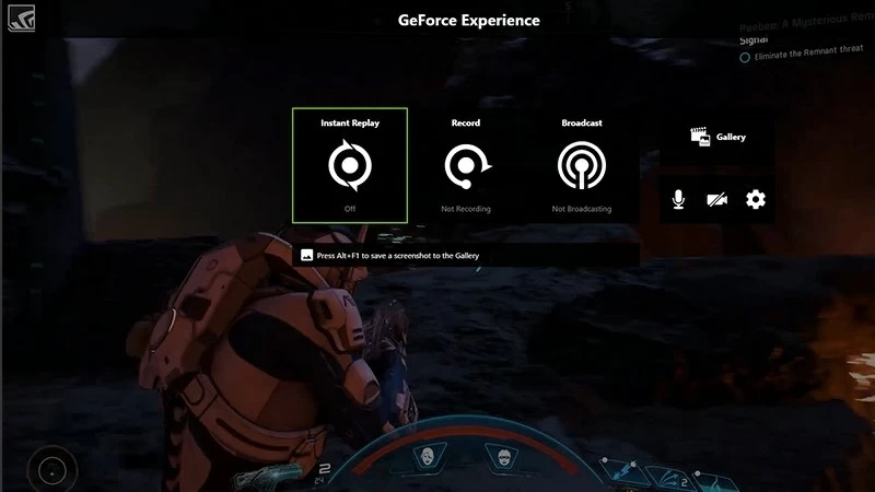 ways to record game nvidia interface