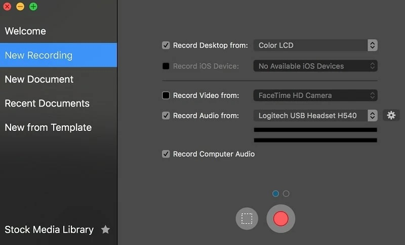 ways to record game screenflow interface