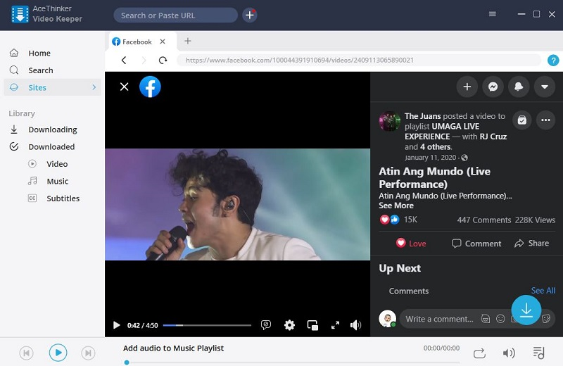 share facebook video to instagram step2