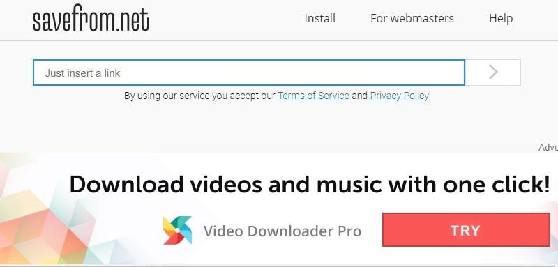 savefrom homepage