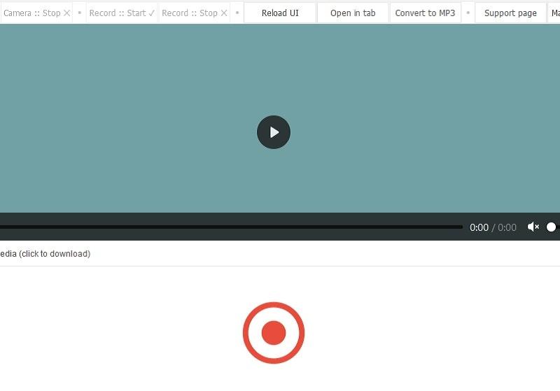 video recorder main interface