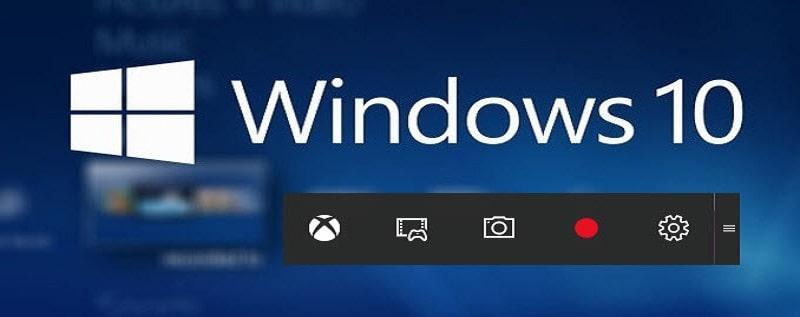 windows 10 recorder main interface
